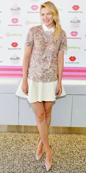 Maria Sharapova Makes Sequins Work For Day