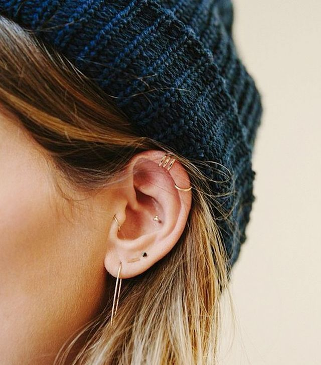 There isn't really a part of the ear that you can't adorn with an earring, so why not get creative with your placement?