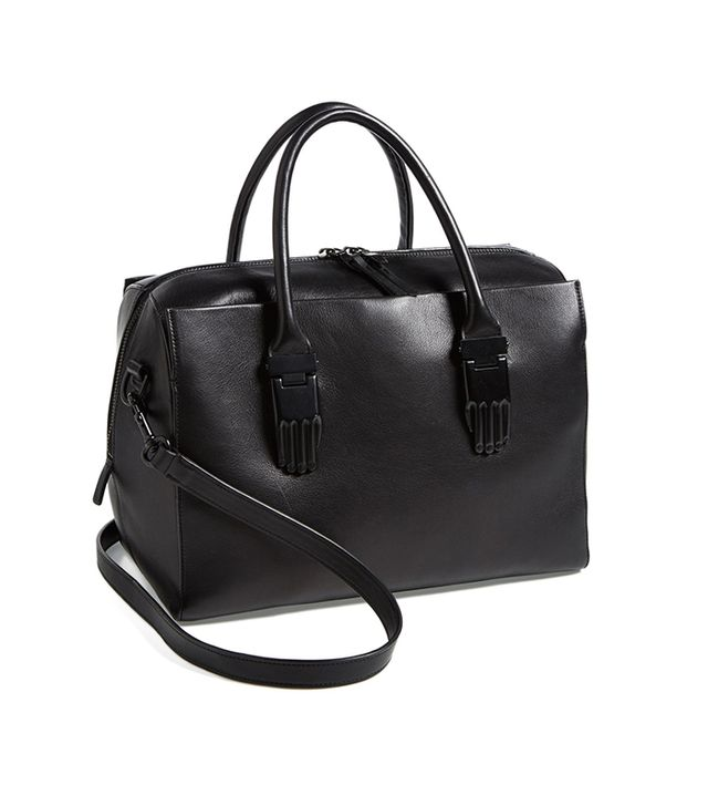 This sleek carryall will never go out of style.  Opening Ceremony Classic Handsome Calfskin Leather Carryall ($745) in Black