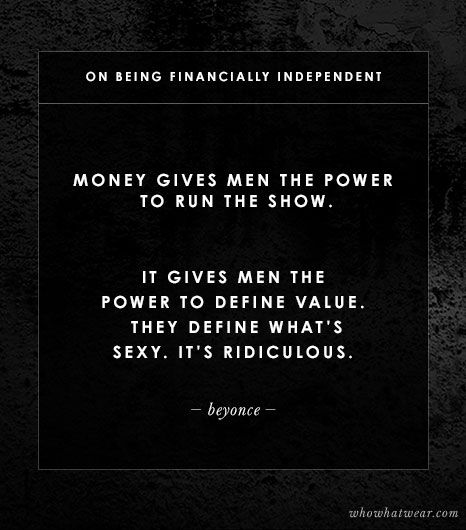 On Being Financially Independent