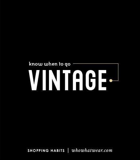 10. Know When To Go Vintage/Thrift 