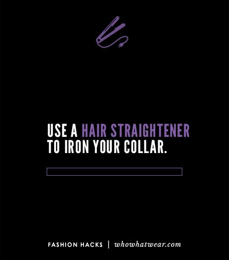 Use a hair straightener to iron your collar.