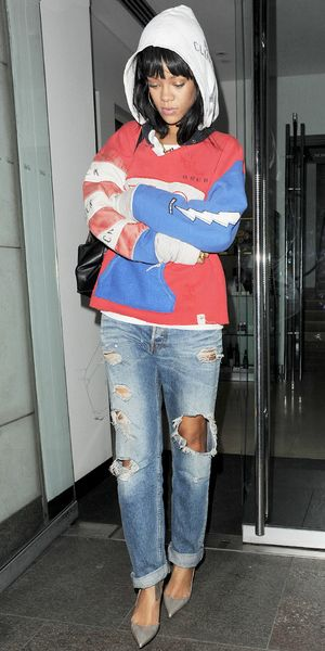 Rihanna's Perfect Ripped Jeans