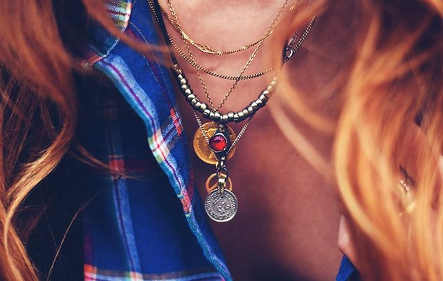 Secret 6: Coin necklaces add an instant bohemian feel.