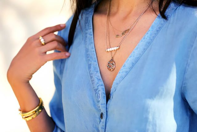 Secret 4: Personalize your collection with a letter or zodiac pendant.