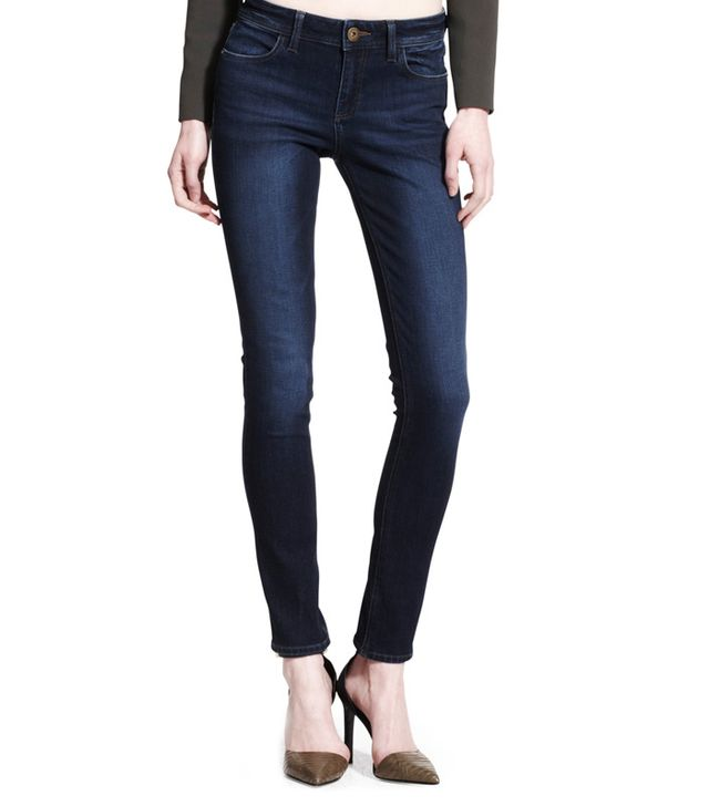 The Body:Curvy  The Jeans: DL 1961 Florence Warner Instasculpt Jeans ($178)  The Slimming Trick: The four-way stretch fabric formula instantly microsculpts your legs, butt, and...