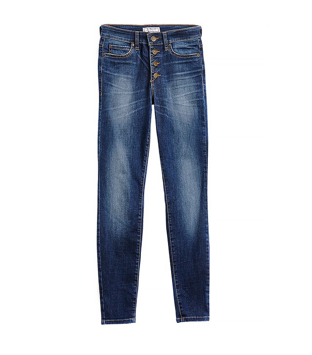1981 High-Rise Button-Front Skinny Jeans