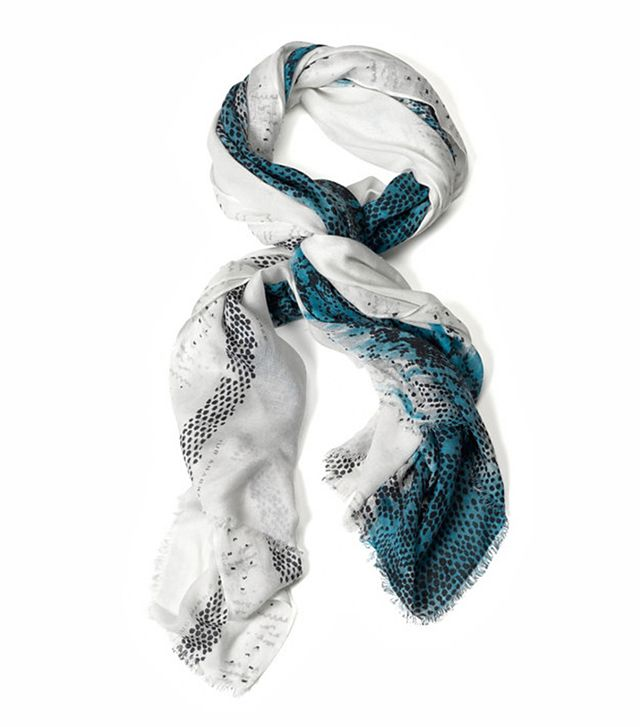 Barbara Bui Snakeskin Print Scarf ($195)