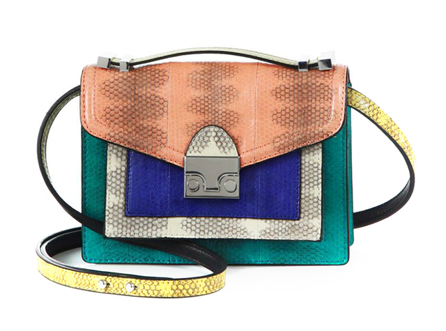 Loeffler Randall Mini Snakeskin Rider Shoulder Bag ($495)