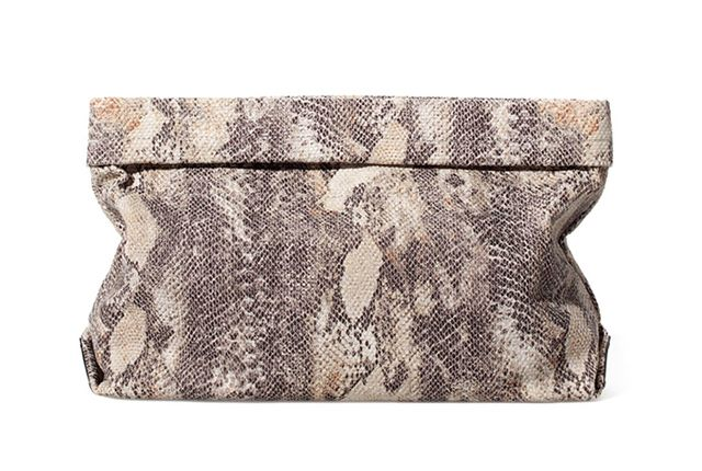 Zara Snake Print Clutch ($50)