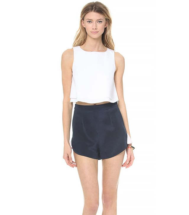 KIMEM Cropped Top ($136) in Pure White