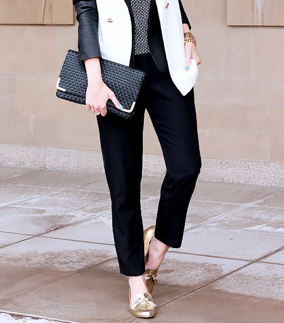 What are some foolproof ways to wear flats at the office?
