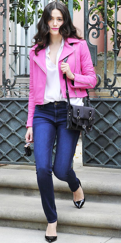 Emmy Rossum's Slenderizing Jeans