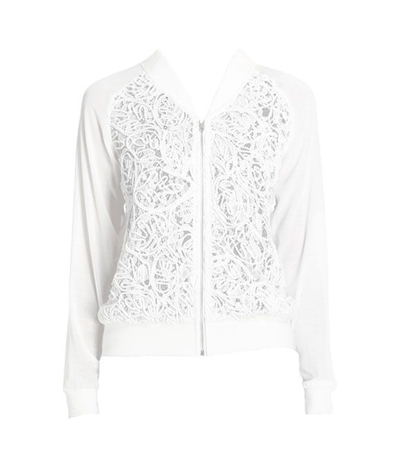 Heartloom Saige Jacket ($179)  A feminine take on the bomber jacket pairs perfectly with a little floral frock.
