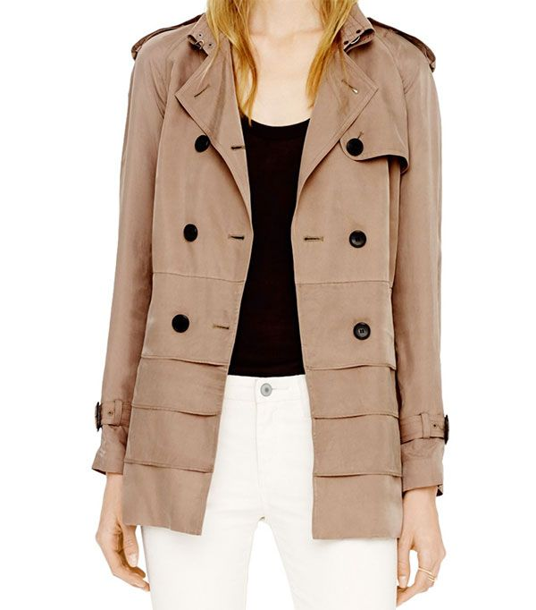 Club Monaco Isabelle Trench ($269)  The classic trench gets a modern update with tiered detailing.