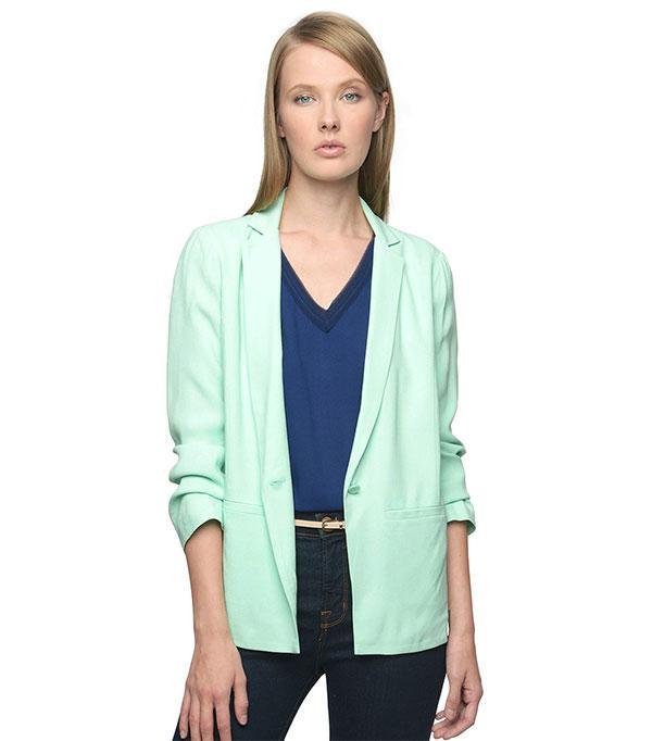 Ella Moss Posy Blazer ($228)  A mint green blazer will lend a fresh feel to your office attire.