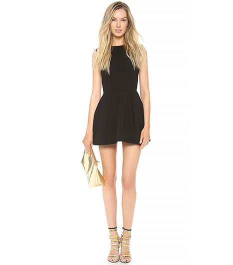 AQ/AQ Dime Mini Dress ($231) in Black