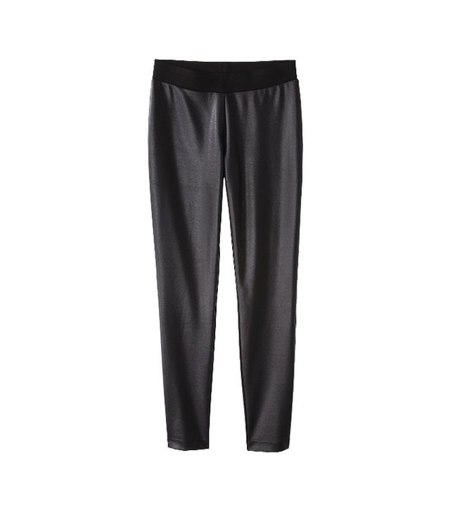 Coated Ankle Pants