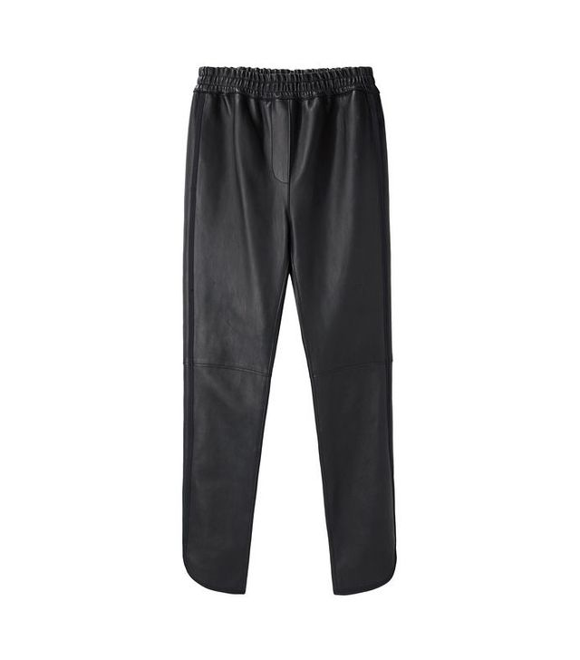 Stretch Leather Track Pants