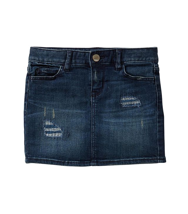 Rip & Repair Denim Mini Skirt
