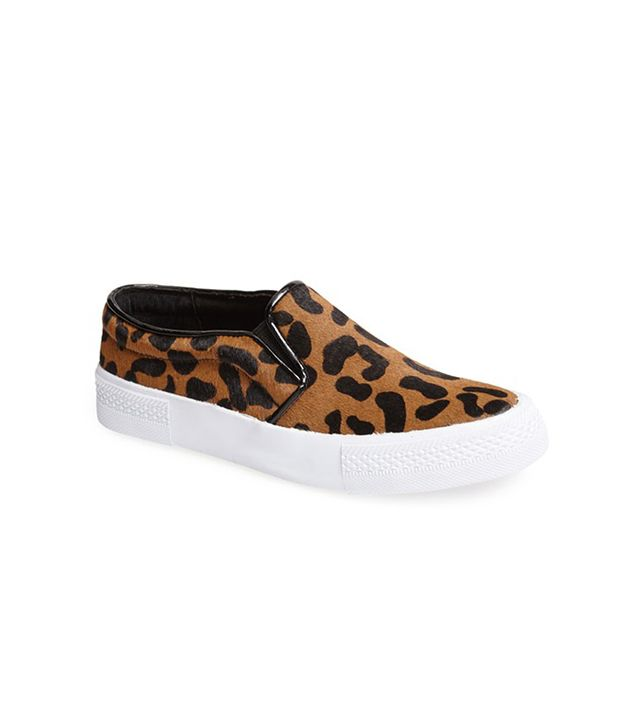 NYC Leopard Print Pony Hair Sneakers