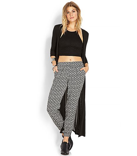At only $16, it wouldn't be the end of the world if you got a couple grass stains on these geometric-print jogging pants.  Forever 21 Hollywood Regency Joggers ($16) in Black/Cream