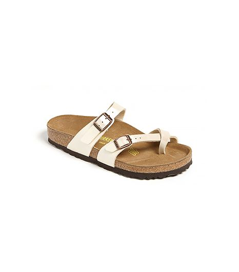 The sleeker cousin of the traditional two-strap Birkenstock feels especially fresh in white.