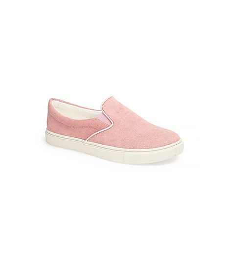 Dash from the Main Stage to the Sahara Tent in style with these blush pink sneakers.  Steve Madden Ecentric Pony Hair Flats ($100)