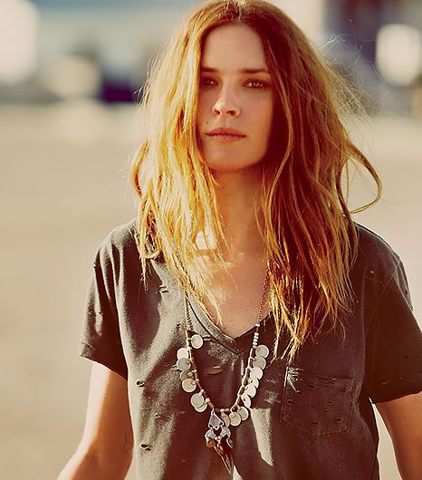 We've been dying to get our hands on this coin necklace ever since Erin Wasson layered it over a vintage tee in a Free People short film.  Free People Long Coin Layering Necklace ($48)