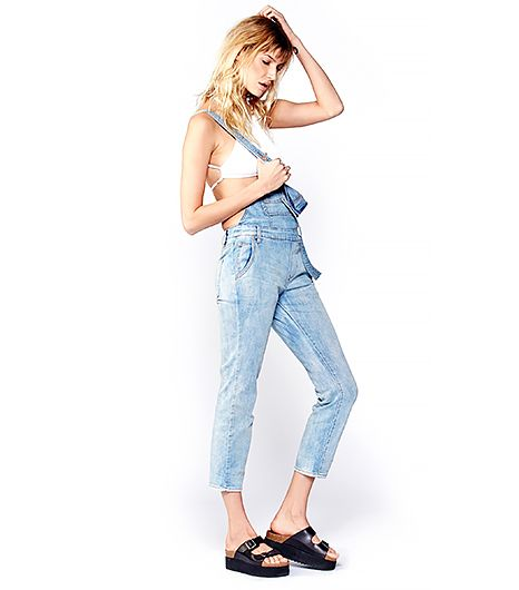 Nothing says laid-back cool like a pair of overalls.  Free People Washed Denim Overalls ($98)