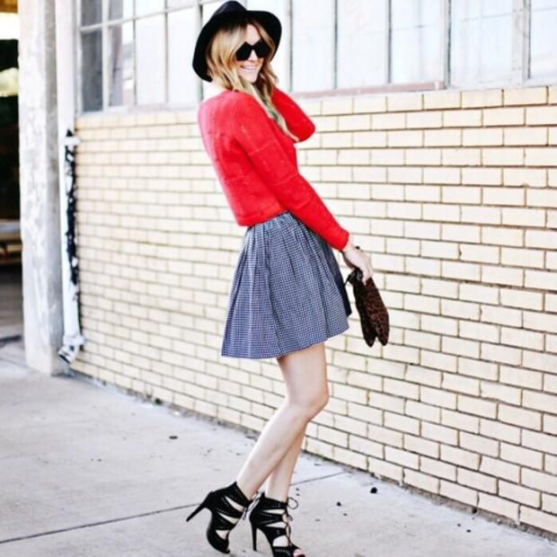 Dashofdarling is wearing: Clare Vivier bag, Zara heels, Topshop sweater.  Get The Look:  Guess Legari Heels ($110) in Black  See more ways to wear lace-up heels on Pose.com.