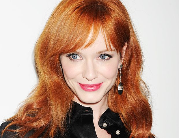 Christina Hendricks Proves Redheads CAN Wear Pink Lipstick