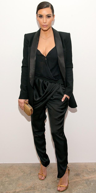 Kim Kardashian's Modern Riff On The Tuxedo