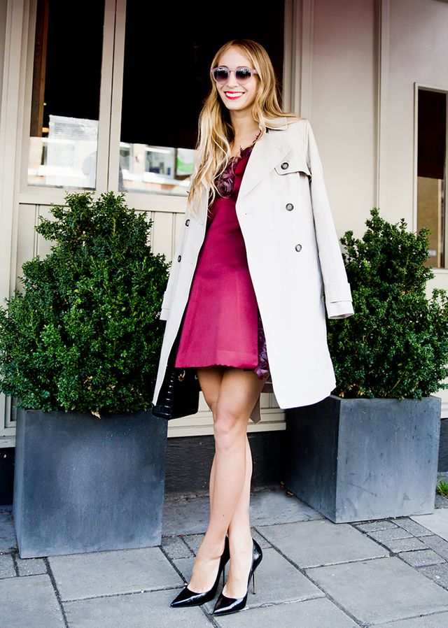 Slip Dress + Classic Trench Coat