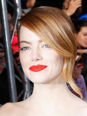 The Secret Behind Emma Stone's Matte Red Lip