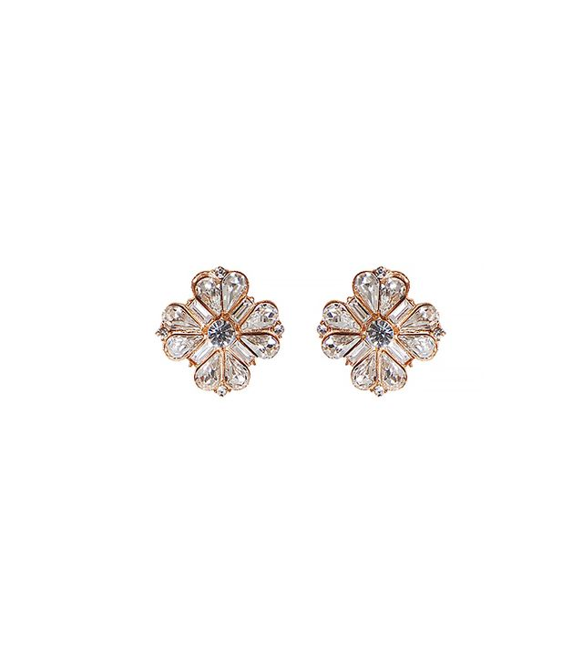 Humble Chic Crystal Flower Earrings ($28)