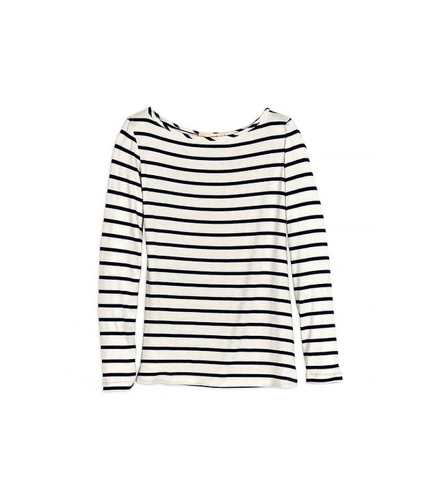 Amour Vert Francoise Striped Long Sleeve Tee ($90)