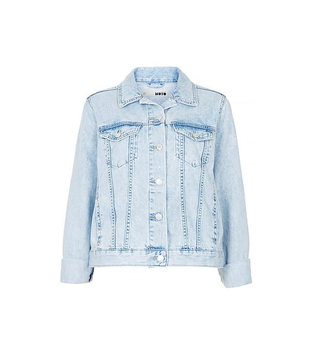 Tophsop Moto Fitted Denim Jacket ($90)
