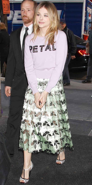 Chloe Grace Moretz Blossoms In Christopher Kane