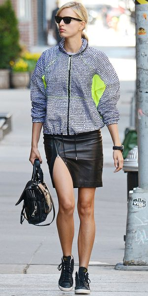 Karolina Kurkova's Sporty-Chic City Look
