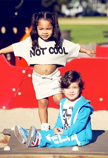 NK: Great way to balance a fitted skirt with a boxy crop top.