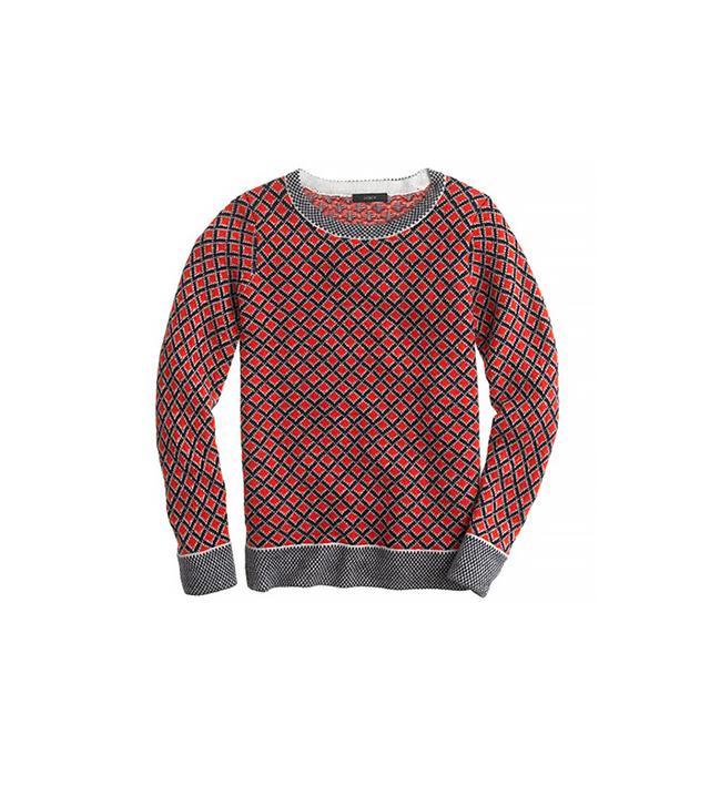 J. Crew Collection Cashmere Diamond Sweater ($140)