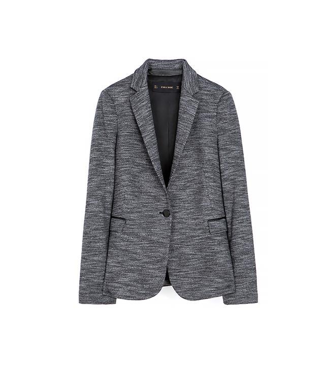 Zara Marl Blazer ($90)