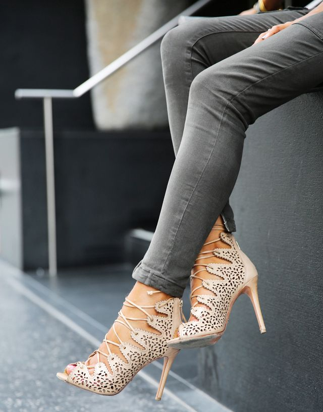 3. Strappy Stilettos