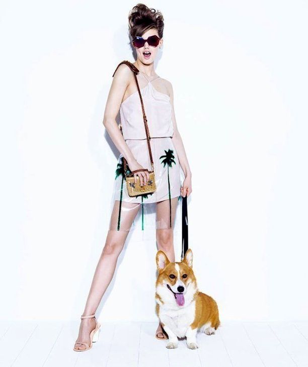 Lindsey Wixson Poses With Cute Pups For Vogue Brazil