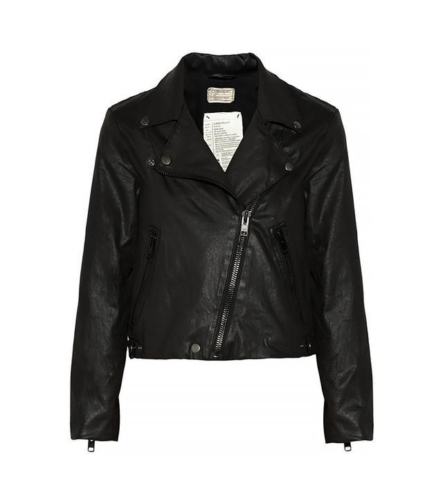The Soho Coated Cotton-Blend Biker Jacket