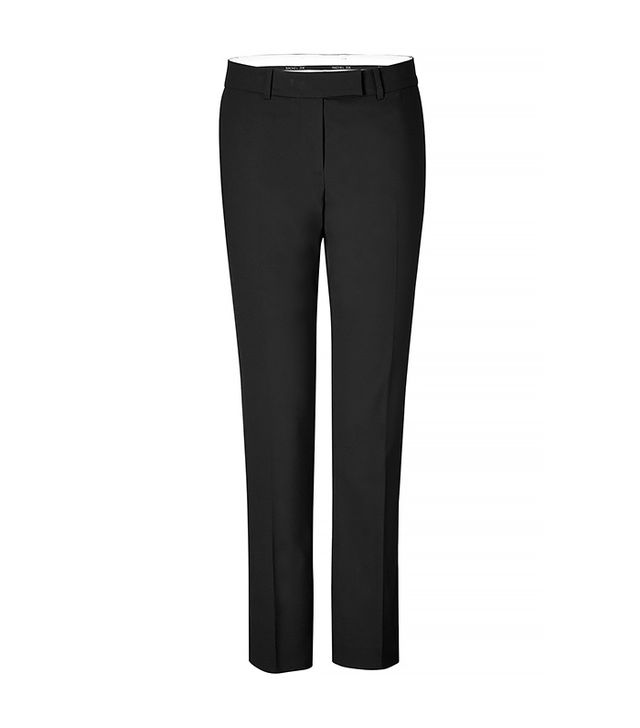Take the workweek staple into your off-duty hours by wearing the pants with a pair of trendy shower slides.  Rachel Zoe Pants ($220)
