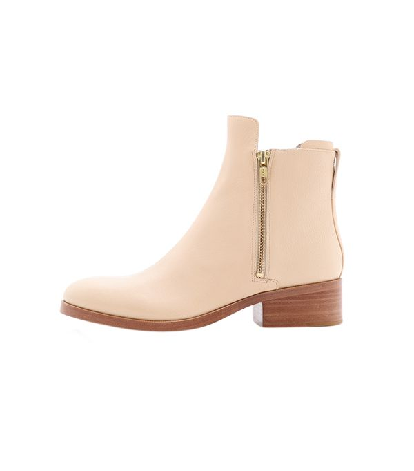 3.1 Phillip Lim Alexa Zip Booties ($525) in Buff  You'll want to wear these neutral ankle boots every day.
