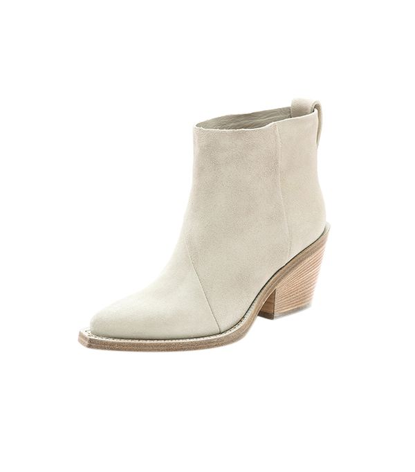 Acne Studios Donna Suede Boots ($610) in White  Make these your next investment purchase!