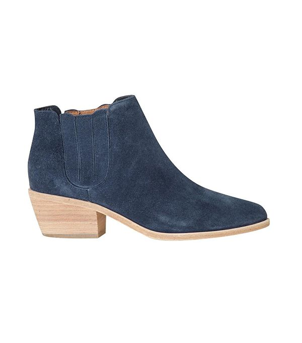 Joie Barlow Boots ($325) in Denim Suede